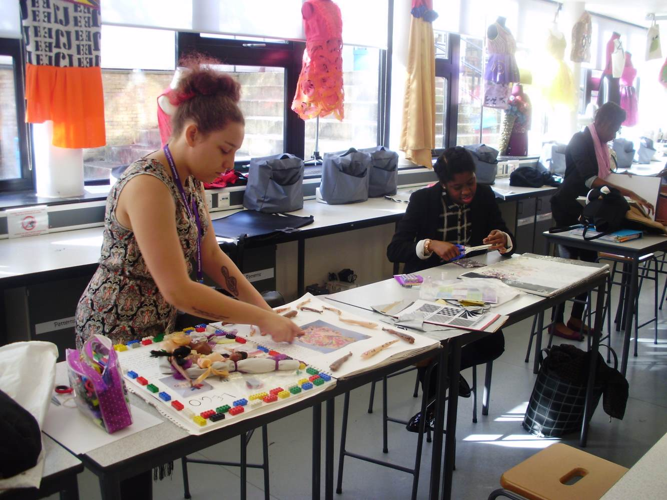 KS5 Textiles students